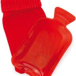Mini handwarmer / baby kruik met zakje rood